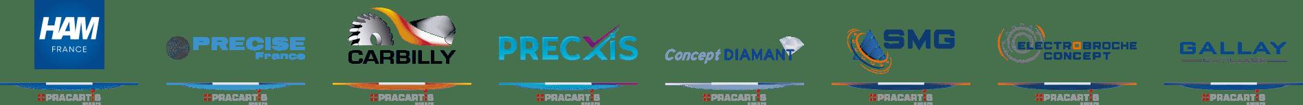 Pracartis Groupe - Frise Logo